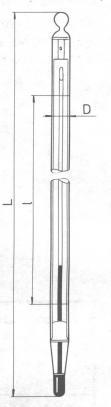 Obalové teploměry s jemným dělením stupnice