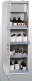 Bezpečnostní skříň na kyseliny a louhy polypropylenová 600x600x1970,pravé dveře,ventilátor